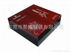 紅色高光實木茶葉盒