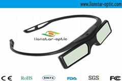 New Style Rechargeable DLP link 3D Shutter Glasses