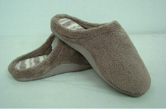 GCE002 Soft Coral fleece comfortable winter indoor slippers