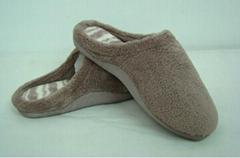GCE002 Soft Coral fleece comfortable winter indoor slippers