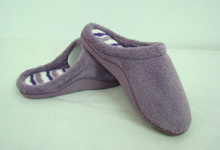 GCE002 Soft Coral fleece comfortable winter indoor slippers 2