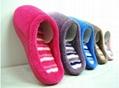 GCE002 Soft Coral fleece comfortable winter indoor slippers 4