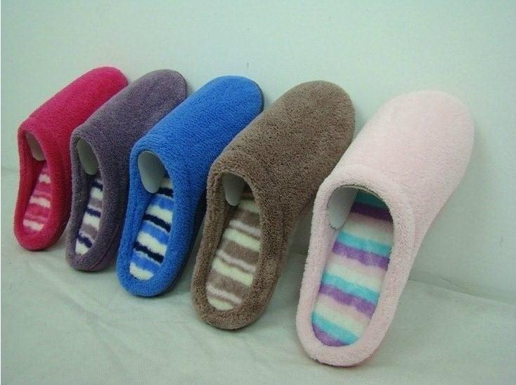 GCE002 Soft Coral fleece comfortable winter indoor slippers 5