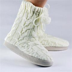 GCE023 Red crochet snow woman boot women