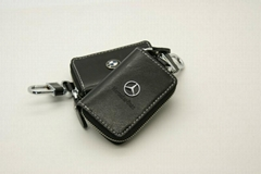 Embossing leather car key case