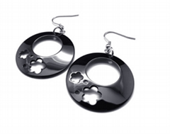 Stainless Steel Jewelry | 316 Stainless Steel Drop Earrings in Black