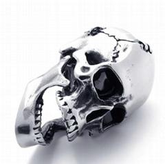 Skull Pendant, 316 Stainless Steel Casting Hip-hop Skull Pendant