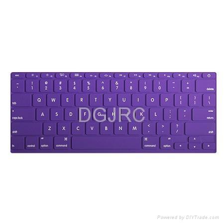 JRC紫色炫彩硅胶键盘膜 1
