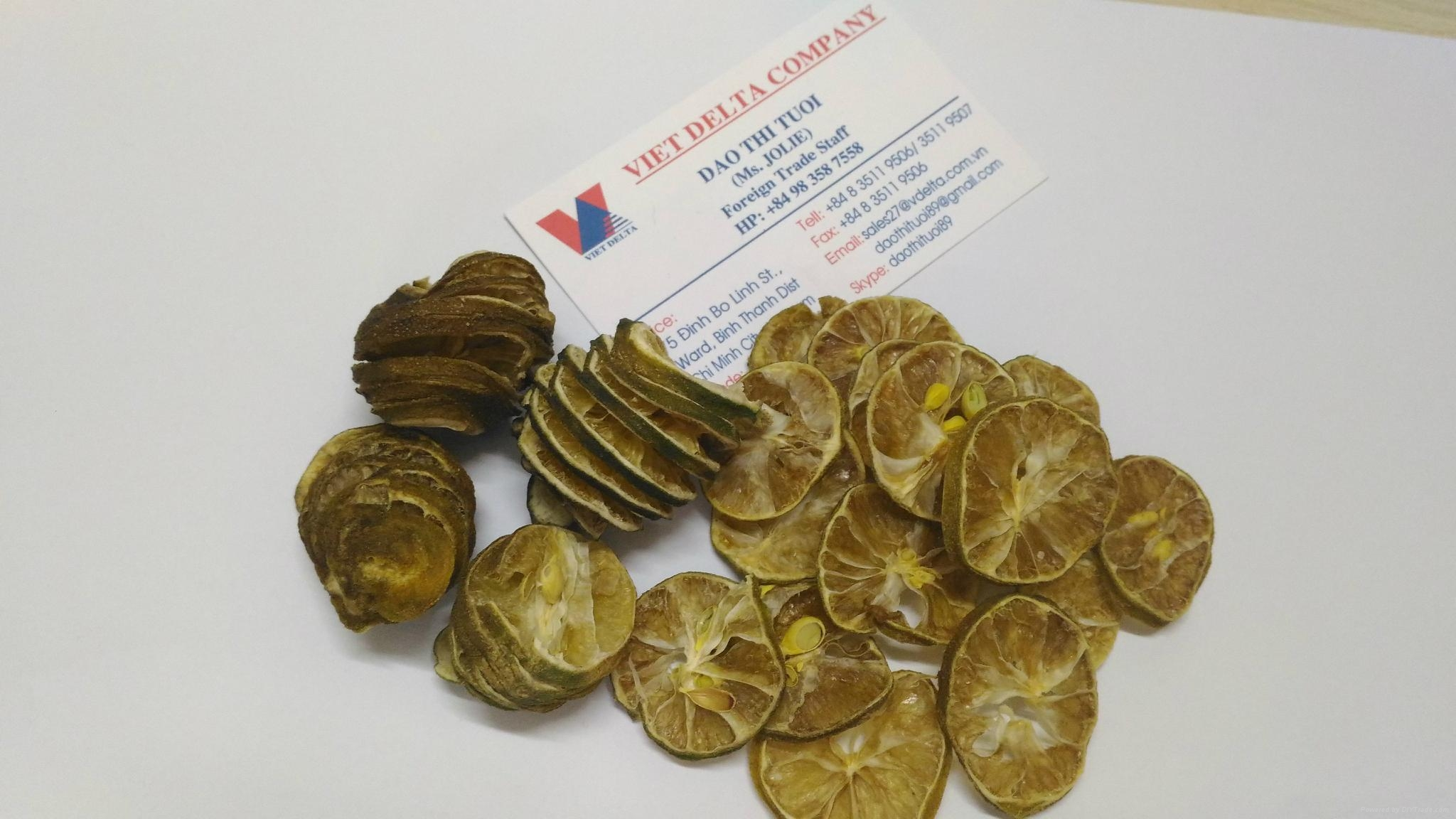Dried Lemon - Lime - Citrus Peel Slice herb tea Jolie whatsap 84983587558 3