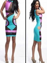 Lady Women Fashion Party Summer Bodycon Bnadage Midi Dress