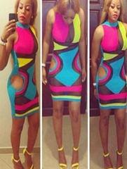 Casual Adult Party Fashion Bandage Bodycon Dress