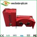 red google cardboard vr glasses virtual