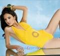 Wholesale Women's 1PC Bright-Yellow