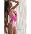 Wholesale Hot Pink 1PC Deep V Neck