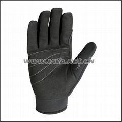 HIGH VIS Reflective Mechanic Gloves (Black)