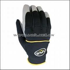 Soft synthetic leather mechanic work glove