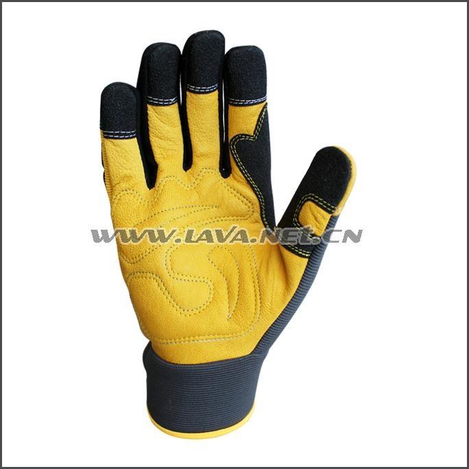 Superior Goatskin Leather Work Anti Knock Gloves 1