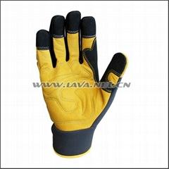 Superior Goatskin Leather Work Anti Knock Gloves