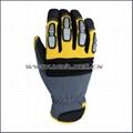 Superior Goatskin Leather Work Anti Knock Gloves 2