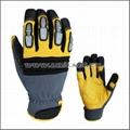Superior Goatskin Leather Work Anti Knock Gloves 3