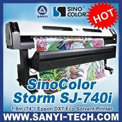 1.8m DX7 Inkjet Printer Sinocolor SJ740i