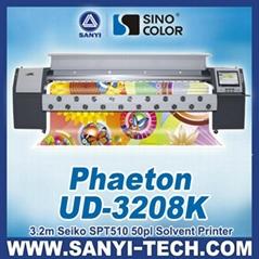 Phaeton UD3208Q Digital Solvent Printer with SPT510 35PL Head 3.2 m
