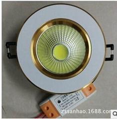 高亮度壓鑄3W COB筒燈
