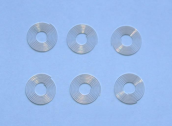 Hairsprings for gauges, oven, washing machine, etc. 3