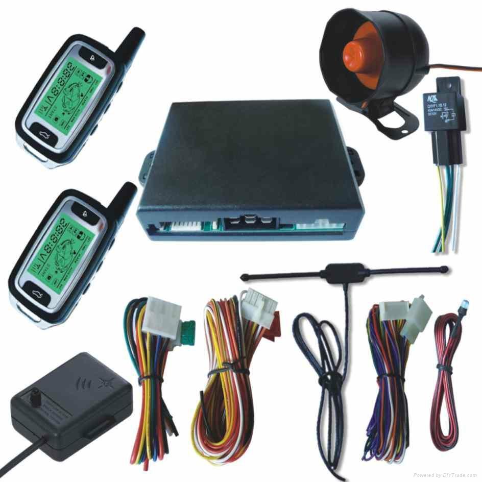 Universal FM Two Way LCD Display Car Alarm System 1