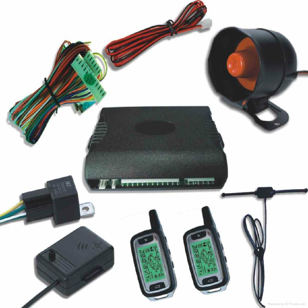 Universal FM Two Way LCD Display Car Alarm System 2