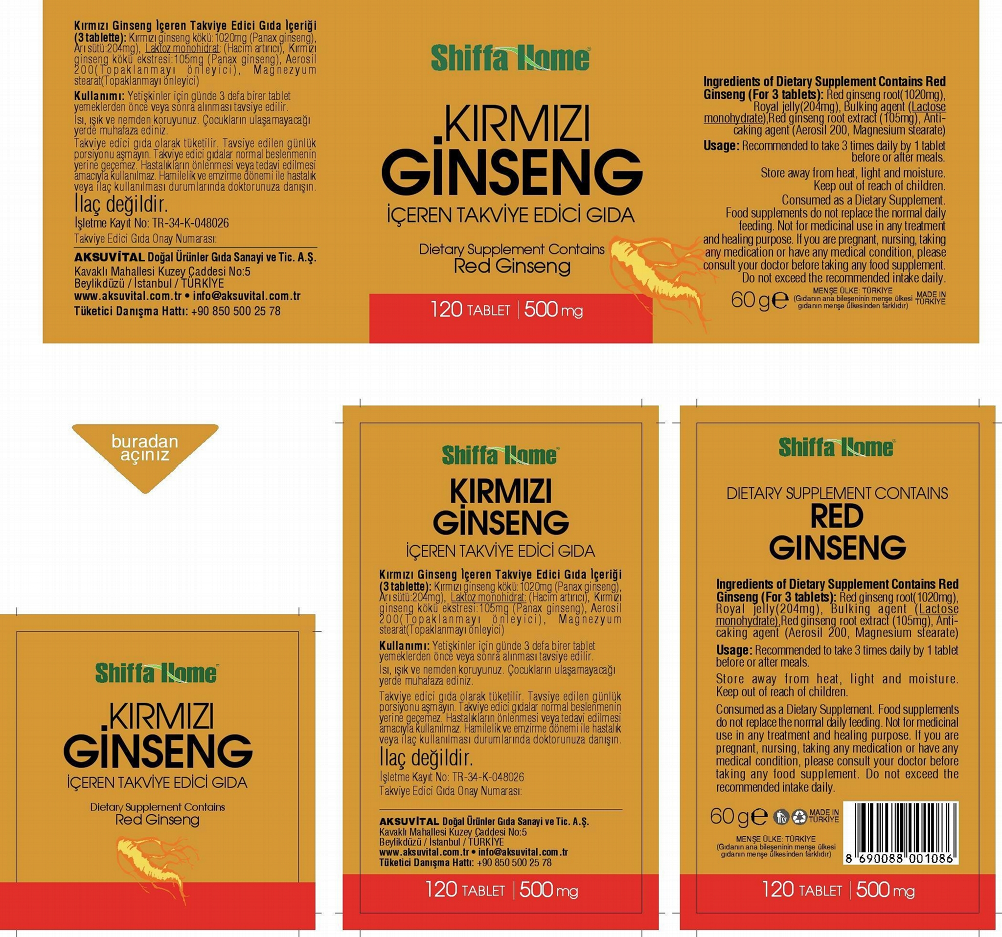 Ginseng Capsule Nutritional Supplement 4