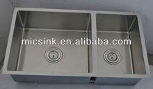 "31""x18"" square handmade stainsless steel kitchen sink"