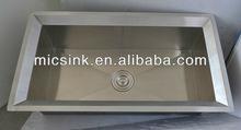 Topmount single bowl handmade stainless steel inox sink