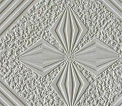 PVC laminated gypsum tile with foil back