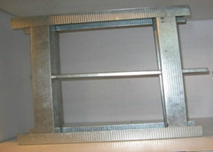 Galvanized steel framing for drywall partition