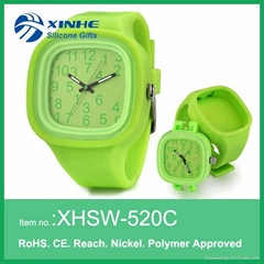 silicone jelly watch removable face