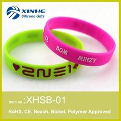 2015 Custom Silicone bracelet
