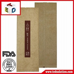 High quality kraft paper pouch for tea