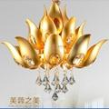 Modern Golden Lustres De Cristal
