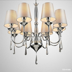 2014 Cheap Lustres Wrought Iron Material Home Decorative Chandeliers lustre LED