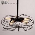 Rh Loft Vintage American Personality Industrial Style Electric Fan Ceiling Light 1