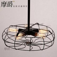 Rh Loft Vintage American Personality Industrial Style Electric Fan Ceiling Light