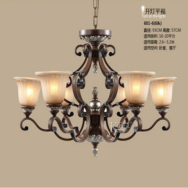 Fashion Classical American Vintage Chandelier Lighting Brief Crystal Iron Pendan 1