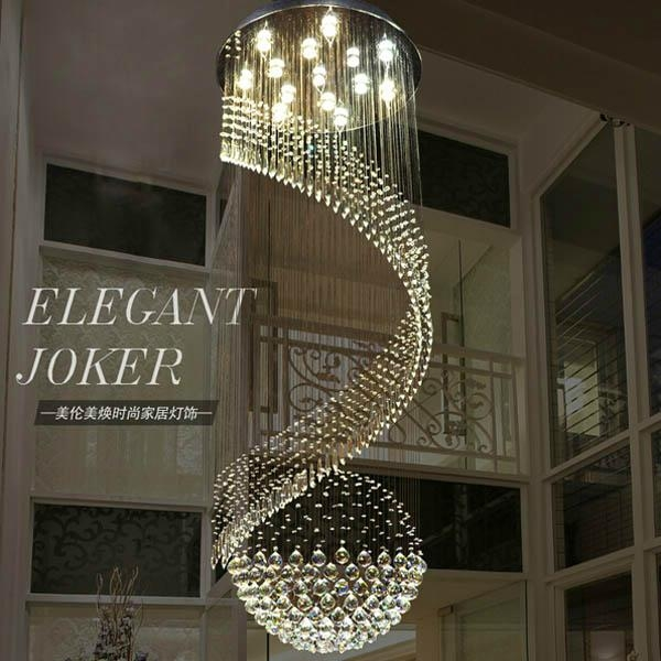 Modern lustre large decorative fashion and large long for Interior decorative lighting products