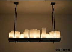 American Vintage Brief Modern Candle Glass Pendant Light dinning room pendant