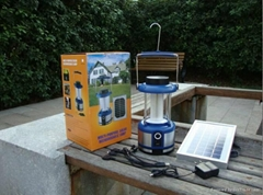 LED Portable rechargeable Solar Lantern with USB charger and FM radio