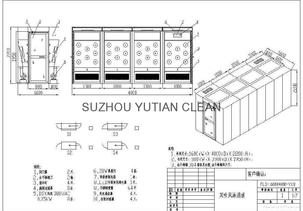 All Full Set Stainless Steel Air Shower 2