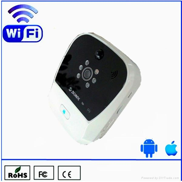 k900 wireless wifi doorbell works with iOS and Android phone or tablet device 1