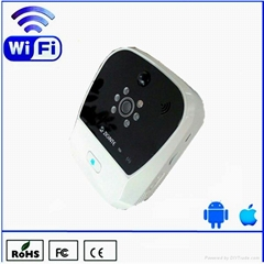 k900 wireless wifi doorbell works with iOS and Android phone or tablet device