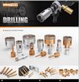 Vacuum brazed diamond dry drill bits for
